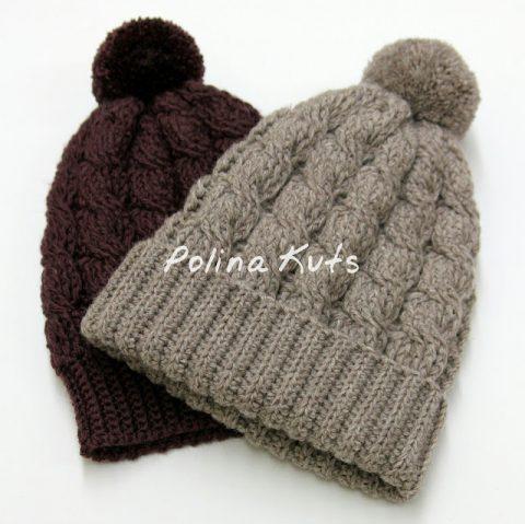 Две шапки крючком