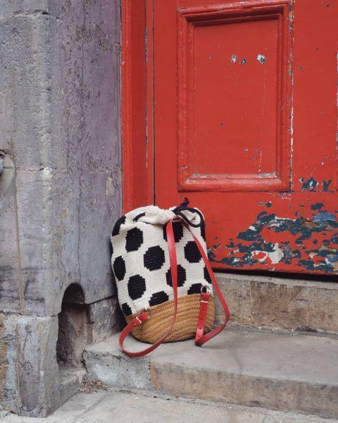 Узор ГОРОШКИ крючком для сумки, рюкзака или коврика