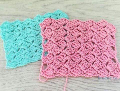 Очень простой узор крючком - всего один элемент (описание и видео-урок) вязание и схемы вязания