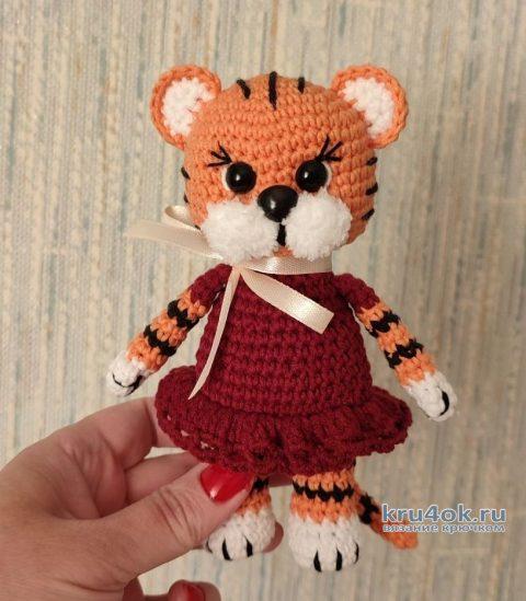 Вязаная игрушка Тигруля Даша. Описание и видео-урок вязание и схемы вязания