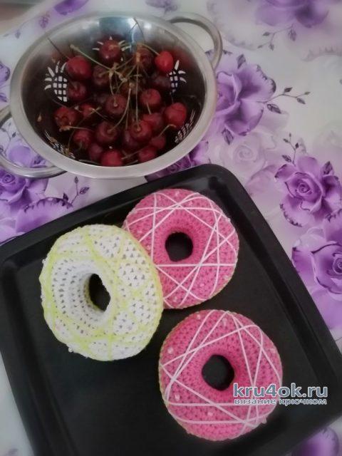 Вязанная крючком еда. Вкусняшки - Пончики. Работа Светланы вязание и схемы вязания