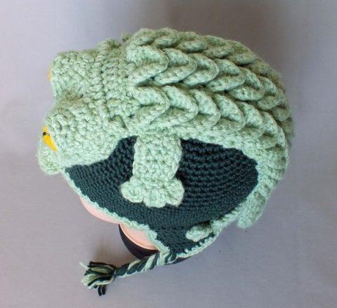 Шапка с ушками Крокодильчик