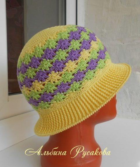 Мастер-класс по вязанию детской шляпы крючком