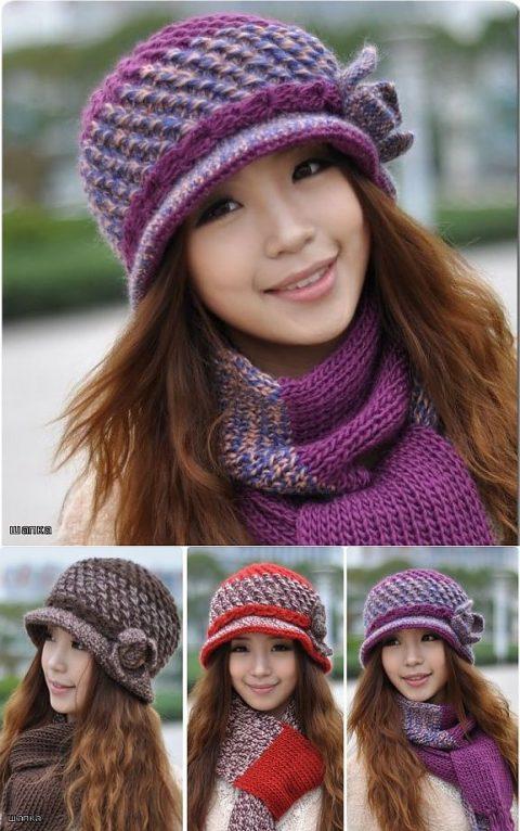Схема вязания шляпки крючком, модель из японского журнала