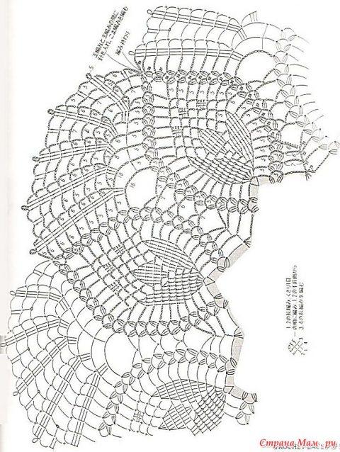 Схемы вязания каймы: