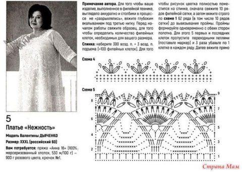 Платье НЕЖНОСТЬ крючком от Валентины Дьяченко 6
