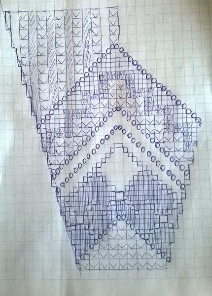 Бирюзовый костюм крючком: топ и юбка 10