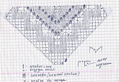 Бирюзовый костюм крючком: топ и юбка 12