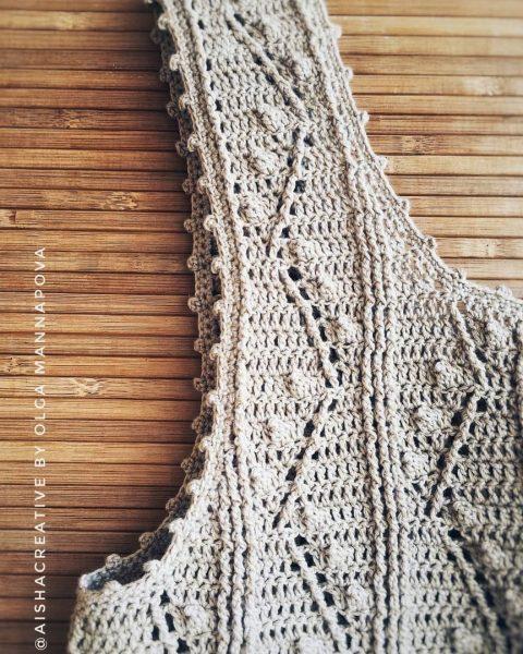Схемы вязания летнего топа крючком