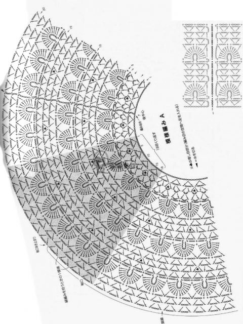Схема круглой кокетки из интернета: