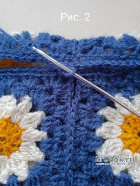 Сумка - шоппер из мотивов крючком. Работа Маргариты Шопхоловой вязание и схемы вязания