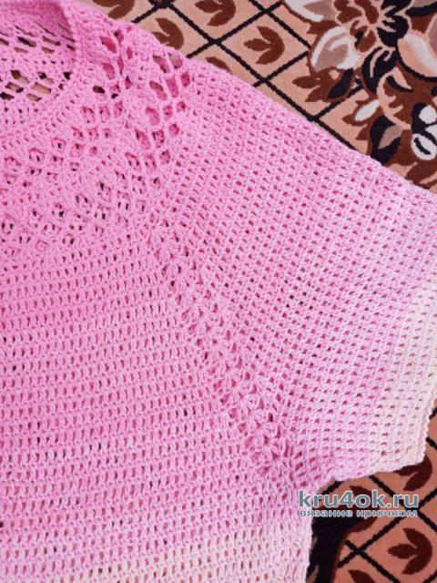 Туника Нежный пион крючком. Работа Ирины Светличной вязание и схемы вязания