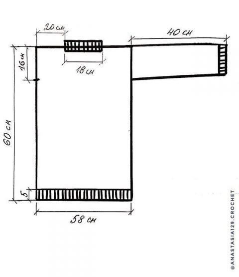 Схемы вязания и выкройка свитера