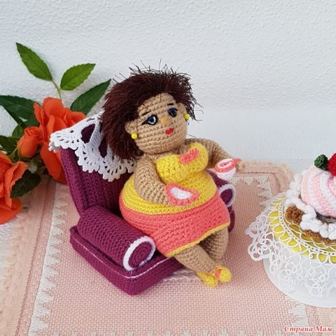 Кукла Толстушка, вязание крючком