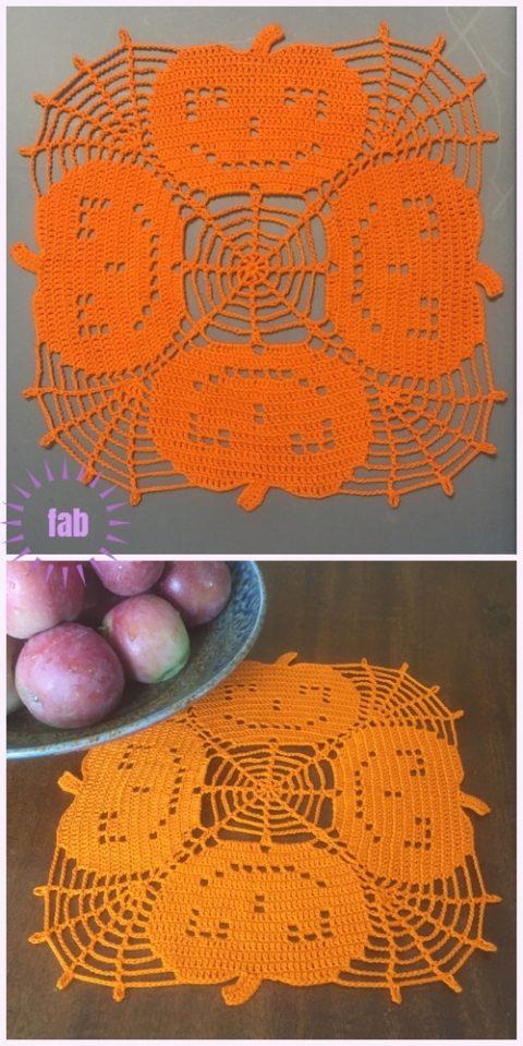 Красивые салфетки для украшения стола на Хеллоуин