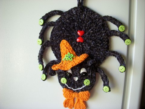 Вязаный декор для дома на Хеллоуин