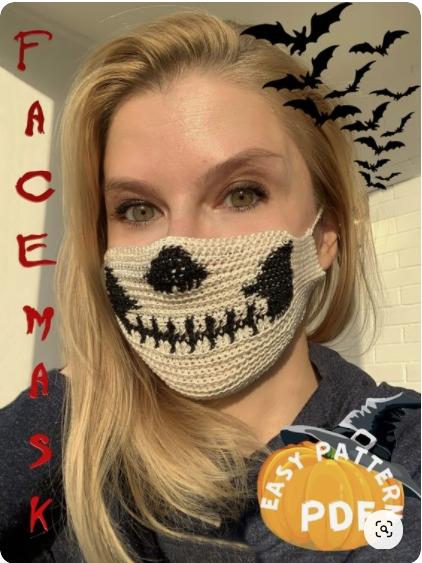 Вязанные крючком маски на Хелллоун