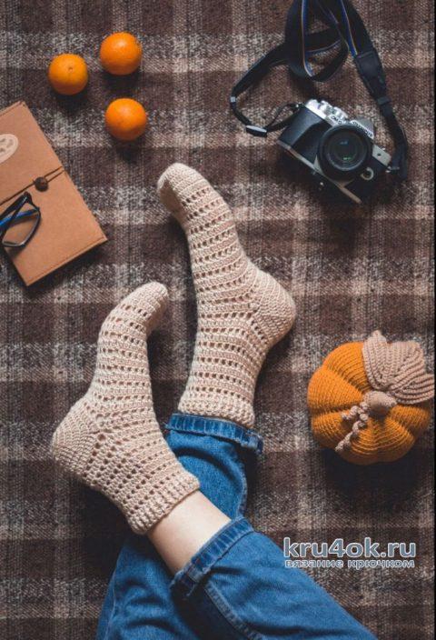 Как связать носки крючком, видео-урок