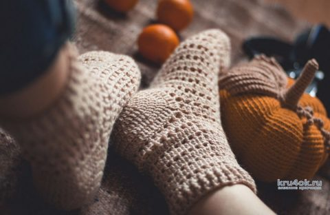 Как связать носки крючком, видео-урок вязание и схемы вязания