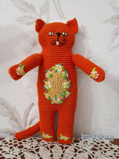 Котик-рыжик, игрушка крючком. Мастер-класс от Фланденой Татьяны