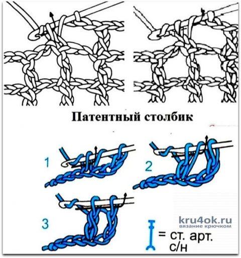 Платье крючком Коралл в технике филейного кружева. Работа Елены Шляковой вязание и схемы вязания