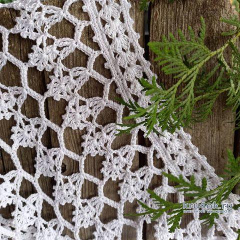 Пляжная туника крючком. Работа Татьяны Угольниковой вязание и схемы вязания
