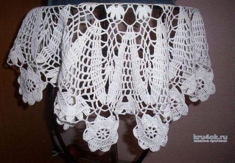 Салфетка Фиалка крючком. Работа Катерины вязание и схемы вязания