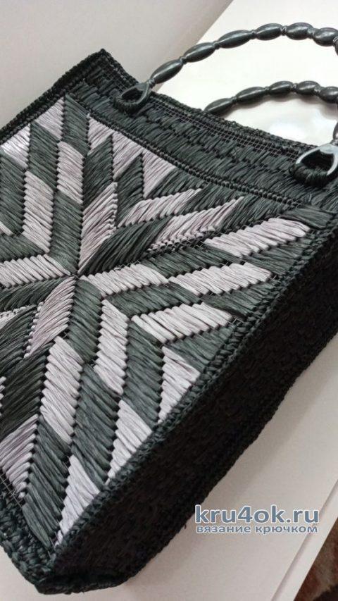 Сумка из рафии. Работа Аллы вязание и схемы вязания