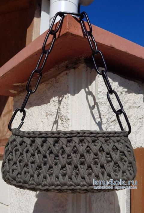 Сумка из трикотажной пряжи. Работа Christina Dorhuso вязание и схемы вязания