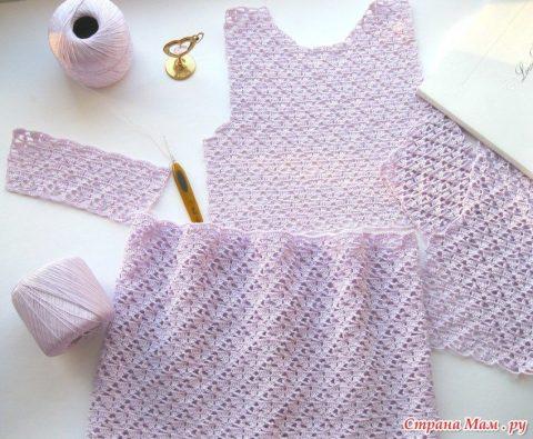 Платье для девочки крючком 1