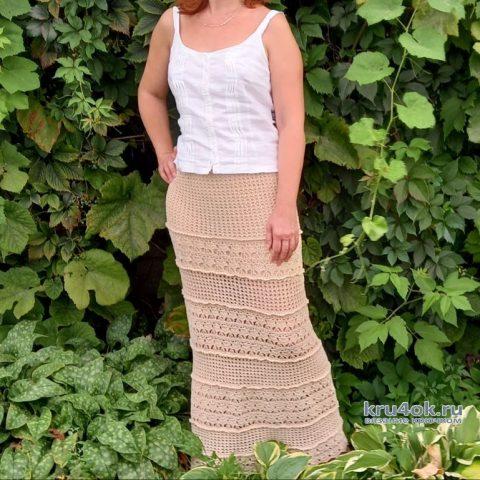 Длинная юбка крючком. Работа Татьяны Угольниковой