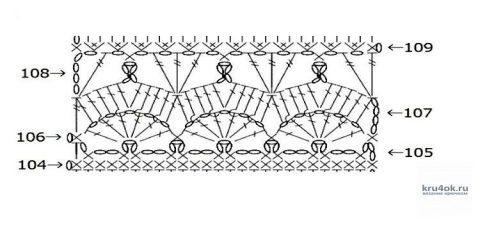 Длинная юбка крючком. Работа Татьяны Угольниковой вязание и схемы вязания