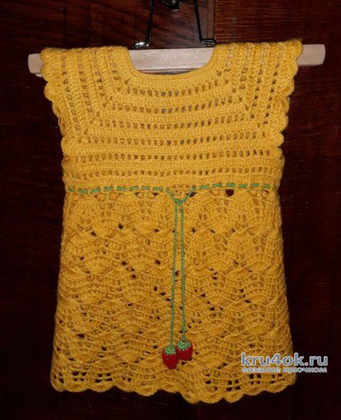Платье для девочки крючком. Работа Альбины Ваниной