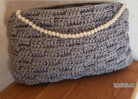 Сумочка-косметичка из полипропиленового шнура. Работа Christina Dorhuso вязание и схемы вязания