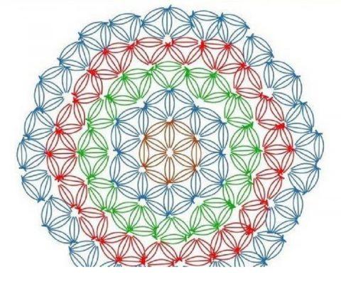 Схема вязания узора ЗВЕЗДОЧКИ по кругу