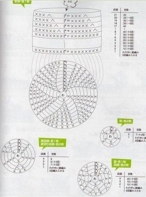 Сова крючком, схема вязания