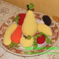 Вязаная игрушка. Фрукты и овощи