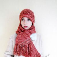 Вязаный комплект «Шарм»-шапка и шарф