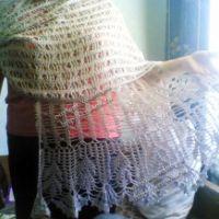 Ажурный палантин и шарф