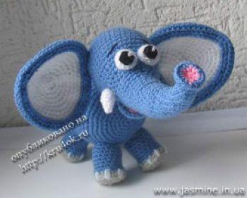 Слонёнок от Янины, мастер - класс и схемы вязания
