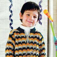 Полосатый свитер для мальчика
