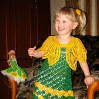 Комплект для девочки «Весняночка»: сарафан и болеро