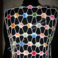 Вязаное болеро «Колечки»