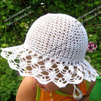 Летняя шляпа и панамка для детей крючком