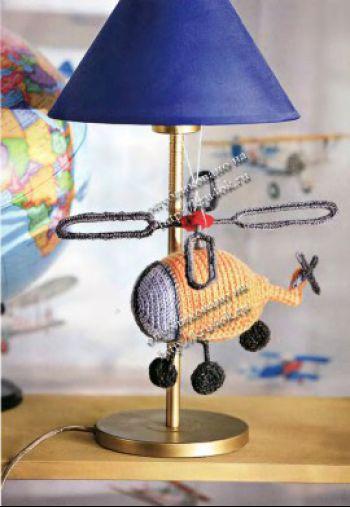 Вязаная игрушка вертолет, описание и схемы