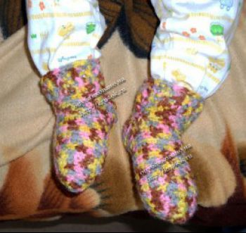 Вязание носков крючком. Мастер-класс!. Вязание крючком.