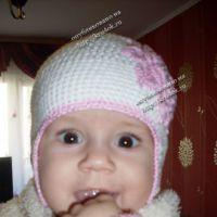 Детская осенняя шапочка «Нежность»