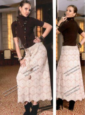Длинная юбка - клеш из мотивов