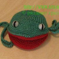 Лягушка — вязаная игрушка для начинающих