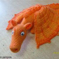 Вязаная игрушка Дракоша «Апельсин»